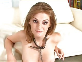Nasty bitch nearly drowns in sperm 1