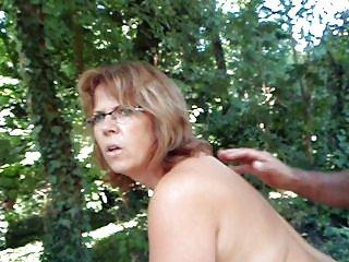 Bbw fucked in the backyard