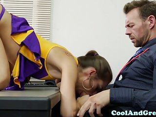 Alexia gold saves not his dad with interracial sex 2